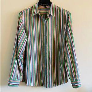 Ralph Lauren Multi Color Striped Button Down Shirt